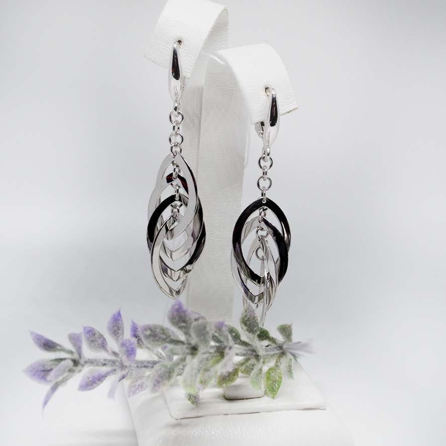 Серебряные серьги-подвески арт.480029C