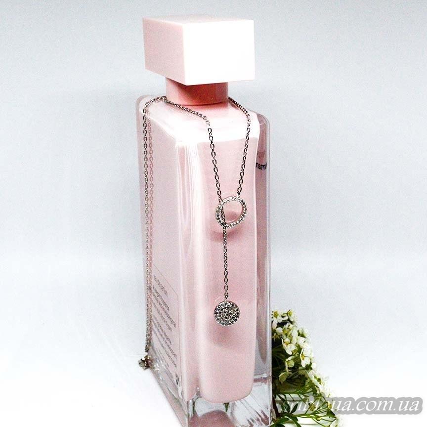 Серебряная якорная цепочка-галстук с подвесами (арт. 450072)