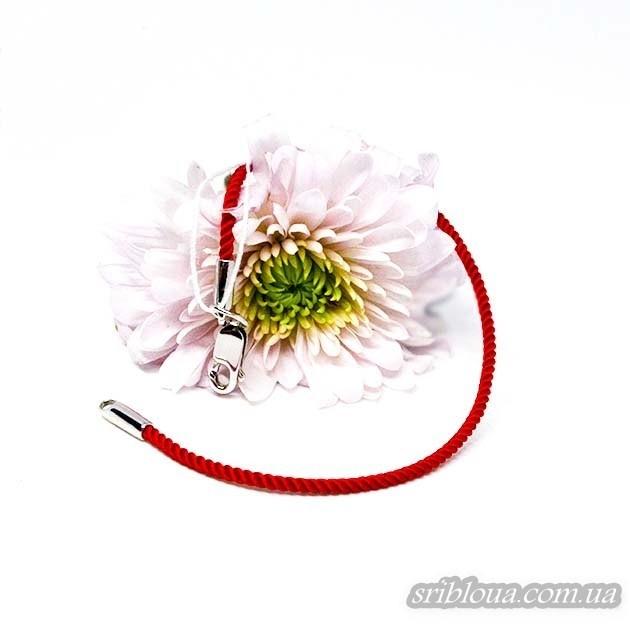 Красный шнурок-оберег на руку (арт. 910062С)