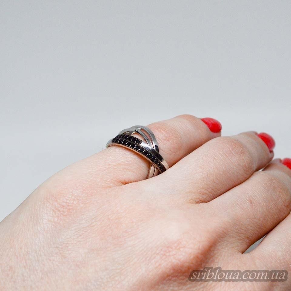 Серебряное кольцо, вставка мини фианиты (арт. 10142чт)