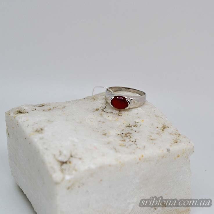 Серебряное кольцо со вставкой рубина (арт. 10282)