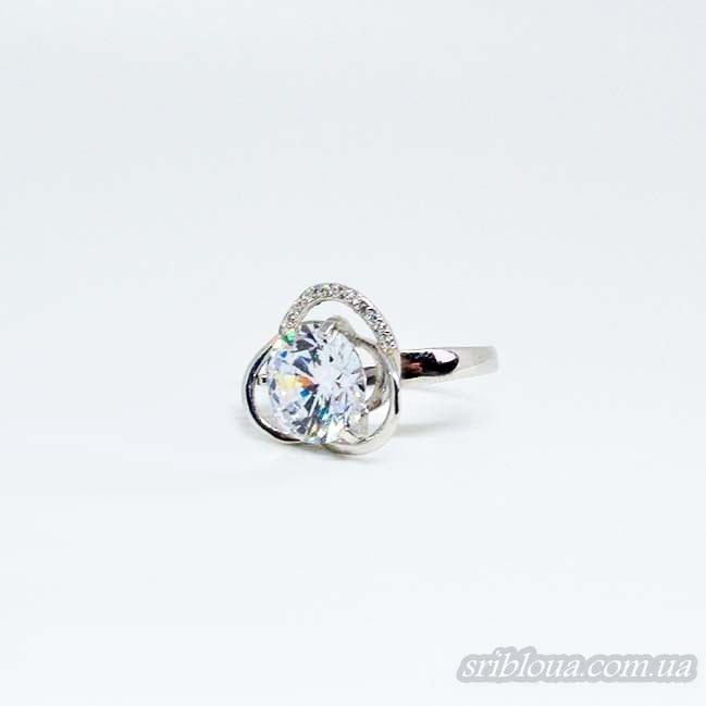 Серебряное кольцо с фианитом (арт. 10004)