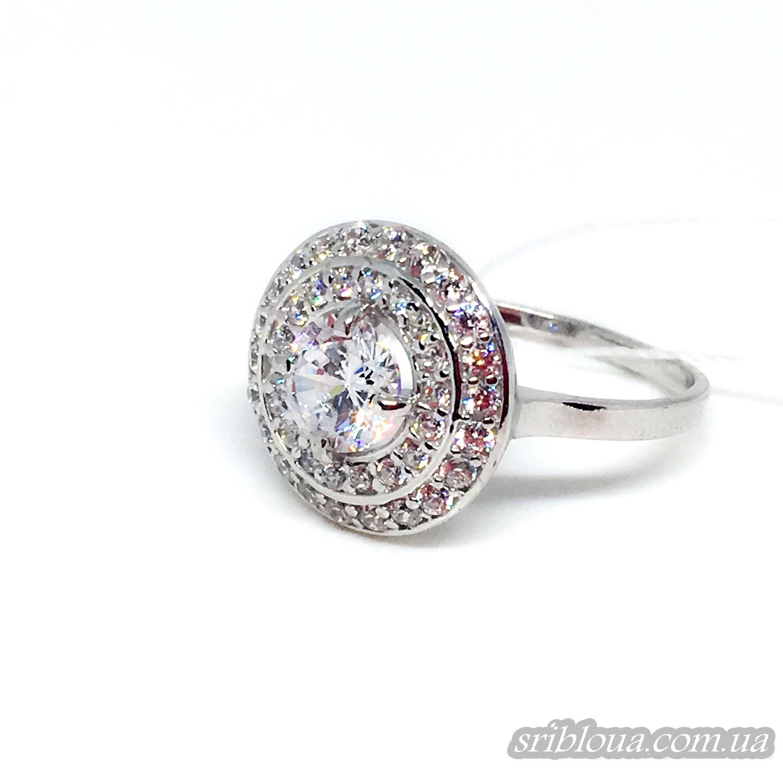 Серебряное кольцо со вставками фианитов (арт. 10324 фиан)