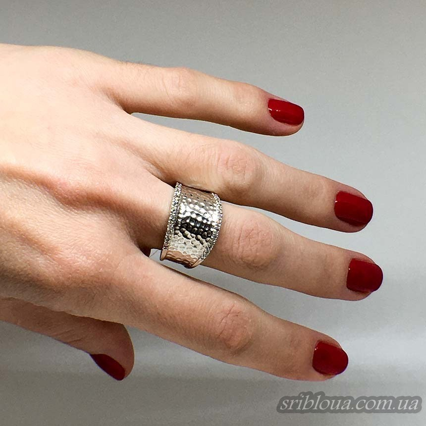 Серебряное широкое кольцо (арт. 310183)