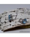 Серебряные серьги, вставка голубой топаз (арт. 20255)
