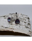 Серебряные серьги, вставка мистик кварц (арт. 20054)