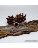Серебряные серьги, вставка дымчастый кварц (арт. 20033)