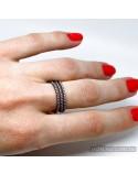 Серебряное кольцо, вставка фианиты (арт. 410565)