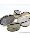 """Шнурок каучуковый """"Черное и белое"""" (арт. 950014C)"""