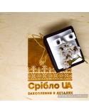 Серебряные серьги-гвоздики со вставкой черного фианита (арт. 20317/9)