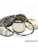 """Шнурок каучуковый """"Черное и белое"""" (арт. 950041C)"""