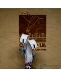 Серебряные серьги, вставка кварц морской (арт. 420441)