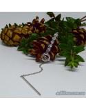 Серебряная якорная цепочка-галстук (арт. 450089)
