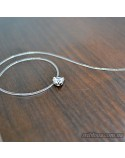 Серебряное женское колье невидимка на леске (арт. 6868.6 нев)
