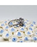 Серебряное кольцо со вставкой фианита (арт. 10046 б)