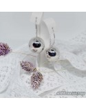 Серебряные модные сережки ШАР (арт. 470129C)