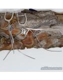 Серебряные серьги - подвесы (арт. 420617)