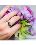 """Серебряное кольцо со вставкой топаз голубой """"Скай"""" (арт. 10255)"""