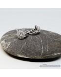 Серебряные серьги, вставка россыпь фианитов Цветок (арт. 420632)