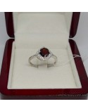 Серебряное кольцо со вставкой красного граната (арт. 10046)