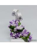 Серебряные серьги, вставка белые фианиты (арт. 20004)