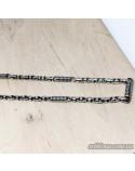 Серебряная мужская литая цепочка (арт. 143)