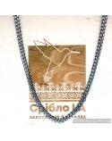 Серебряная мужская цепочка Питон, плетение бисмарк (арт. 6001/17)
