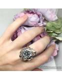 Серебряное кольцо с чернением (арт. 118468)