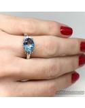 Серебряное кольцо с топазом (арт. 10245)
