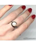 Серебряное кольцо с жемчугом (арт. 10017)