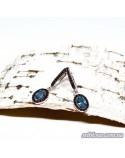 """Серебряные серьги, вставка нано-топаз """"Лондон"""" (арт. 20019/1)"""