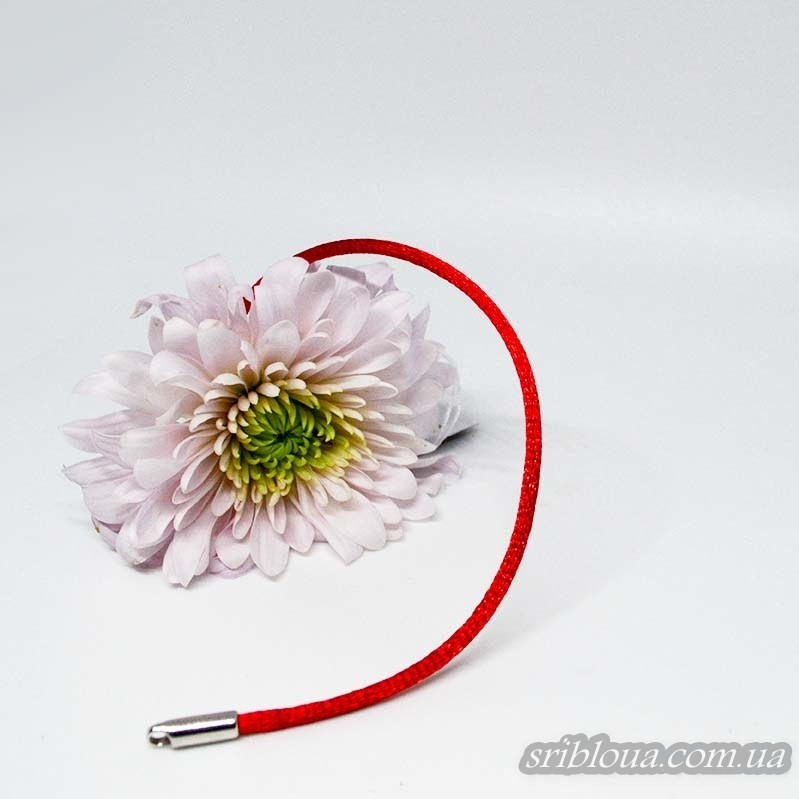 Красный шнурок-оберег на руку (арт. 910063С)