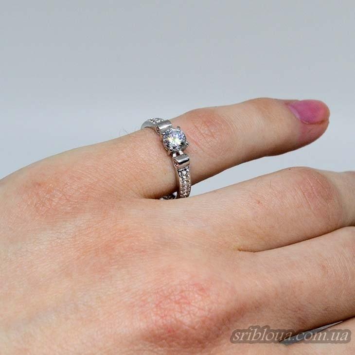 Серебряное кольцо, вставка фианит (арт. 10329)