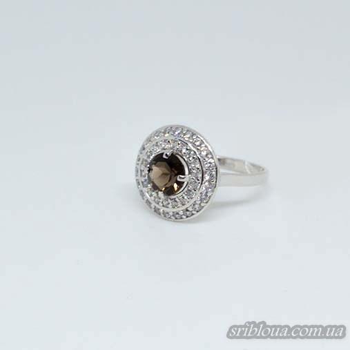 Серебряное кольцо, вставка кварц (арт. 10324кварц)
