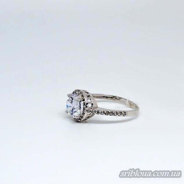 Серебряное кольцо с фианитом (арт. 10001)