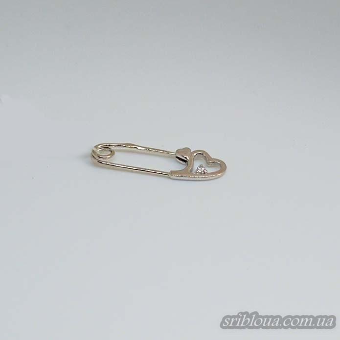 Серебряная булавка с фиантом (арт. 60232)