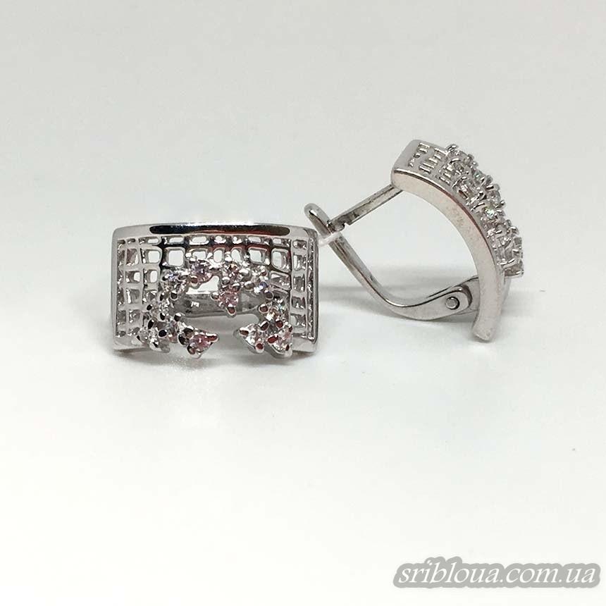 Серебряные нежные серьги (арт. 420690С)