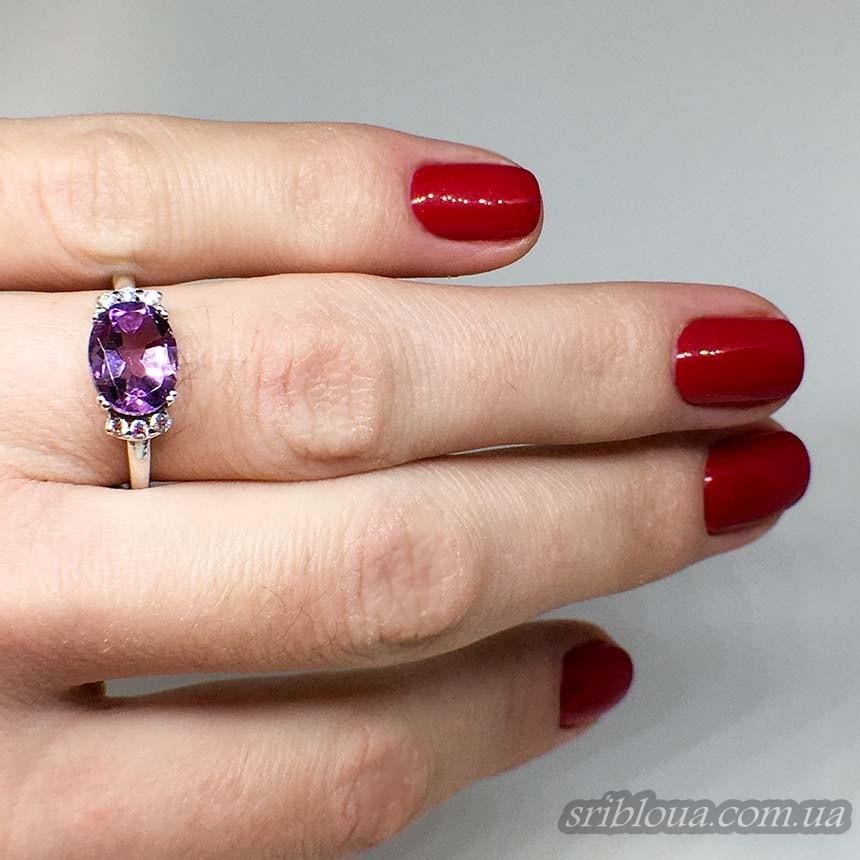 Серебряное кольцо с аметистом (арт. 10255)