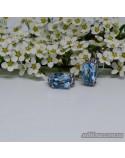 Срібні сережки, вставка блакитний топаз (арт. 20255)