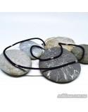 """Шнурок """"Чорне і біле"""" з вставками срібла (арт. 950086C)"""