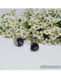 Срібні сережки, вставка містік кварц (арт. 20054)