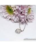 Срібний ланцюжок зі вставкою онікса Клевер (арт. 450083)
