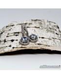 Срібні сережки з вставками фіанітів (арт. 20001/1)