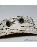 Срібні сережки, вставка димчастий кварц (арт. 20033)