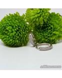 Срібні круглі сережки з фіанітами (арт. 420603)
