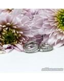 Срібні круглі сережки з фіанітами (арт. 420636)