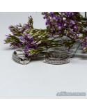 Срібні круглі сережки з фіанітами (арт. 420605)