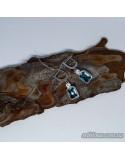 Срібні сережки, вставка кварц морський (арт. 420441)