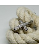 Срібний хрестик-підвіс з вставкою міні-фіанітів (арт. 30143)