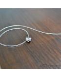 Срібне жіноче кольє на волосінні невидимка (арт. 6868.6 нев)